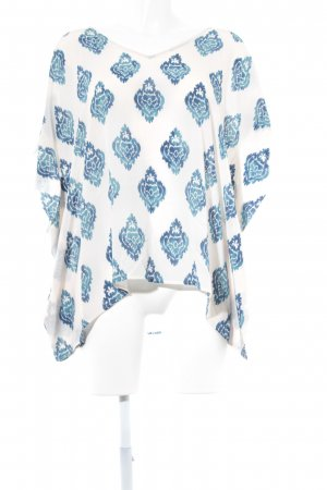 flowers for friends Tuniekblouse wit-blauw volledige print casual uitstraling