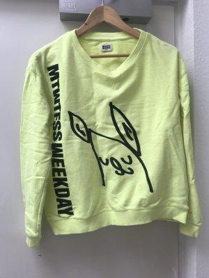 Fluorescent yellow Weekday sweatshirt