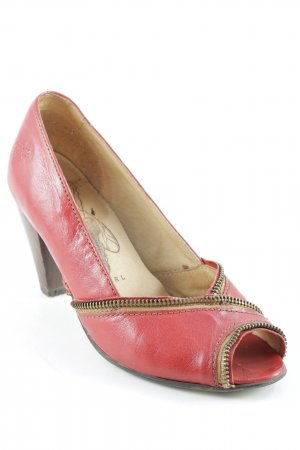 Fly Girl Peeptoe Pumps rot extravaganter Stil
