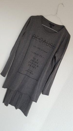 fokuhila longshirt grau fashionshirt 38 M neu