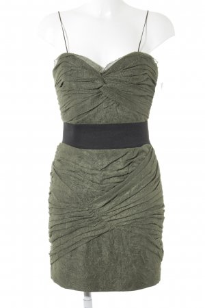Foley + corinna Pinafore dress olive green-black party style