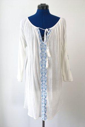 Tunic Dress natural white-cornflower blue