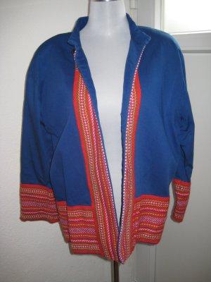 Oversized Jacket blue-red cotton