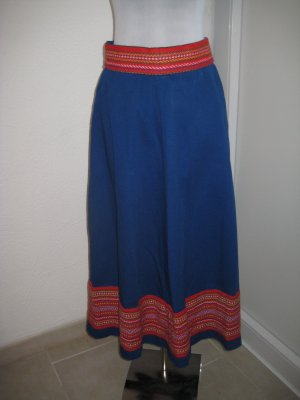 Flared Skirt blue-red cotton