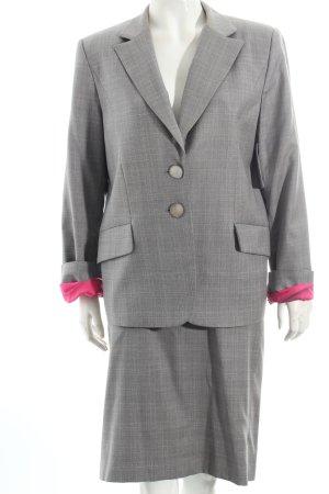 Fontana Couture Kostüm grau-hellrosa Karomuster Business-Look