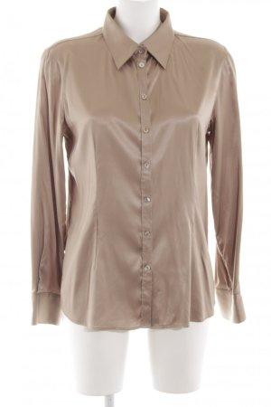 GCfontana Langarm-Bluse goldfarben-bronzefarben Business-Look