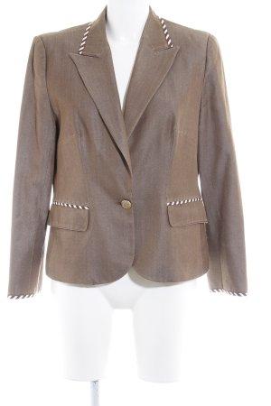 Fontana Couture Woll-Blazer hellbraun-wollweiß Streifenmuster 80ies-Stil