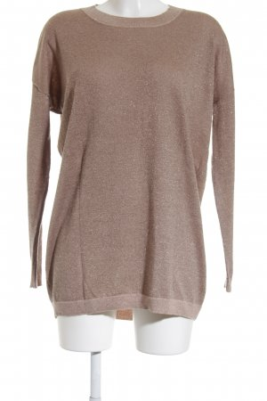 for friends only Longpullover roségoldfarben Glitzer-Optik