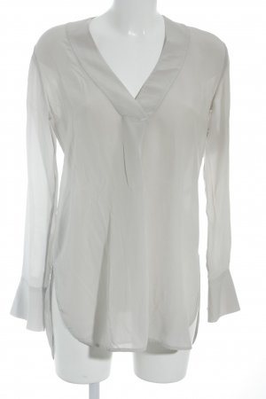 for friends only Seidenbluse creme Business-Look