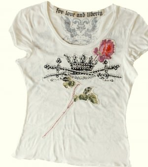 ,,For  Love  and  Liberty''  Designer  T-Shirt  *  Gr. L  *