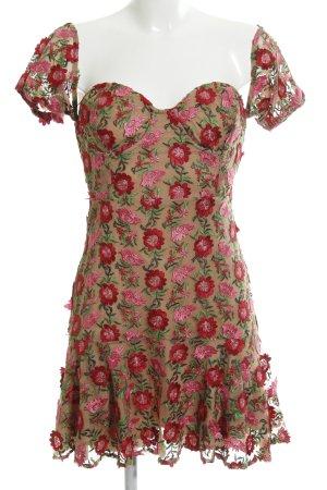 For Love & Lemons Bandeaukleid pink Blumenmuster Elegant