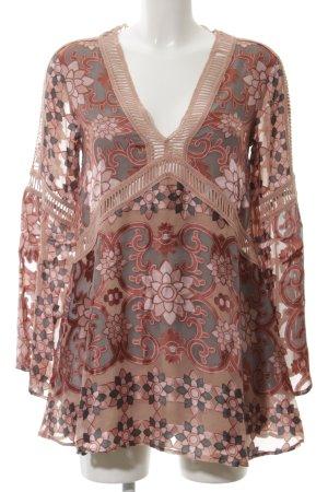For Love & Lemons Tunikakleid pink Blumenmuster extravaganter Stil
