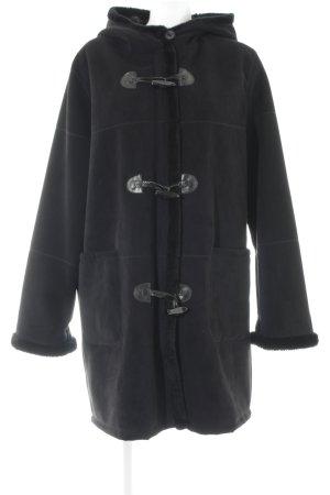 Forest Hill Manteau à capuche noir style décontracté