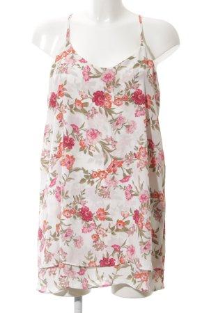 Forever 21 A-Linien Kleid pink-weiß Blumenmuster Casual-Look