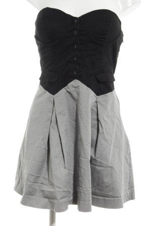 Forever 21 Vestido bandeau negro-gris claro estilo «business»