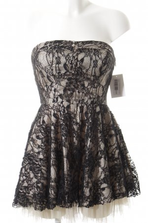 Forever 21 Vestido bandeau negro-beige elegante