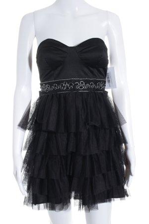 Forever 21 Vestido bandeau negro estilo extravagante