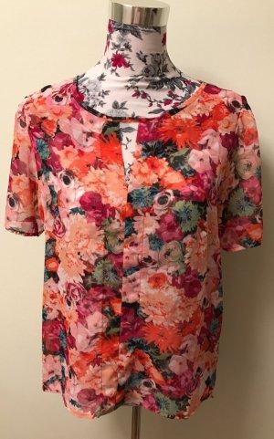 Forever 21 Bluse: Blumenmuster, kurzärmlig