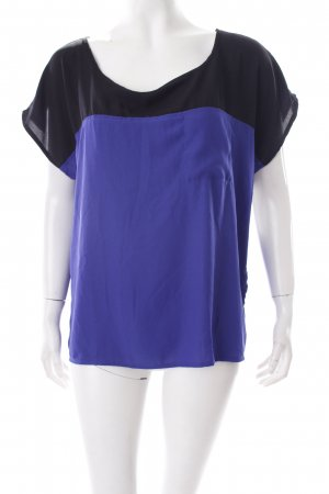 Forever 21 Blusentop blau-schwarz Colourblocking Casual-Look
