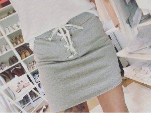 Forever 21 Bodycon Rock Blogger Schnürung Skirt Drapiert Gr.S/M