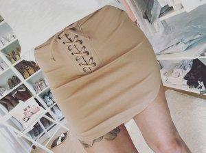 Forever 21 Bodycon Rock Blogger Schnürung Skirt Drapiert Gr.XS/S