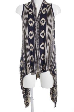 Forever 21 Cardigan creme-dunkelblau Ethnomuster Street-Fashion-Look