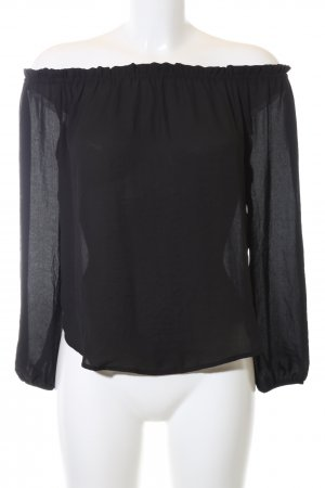 Forever 21 Carmen-Bluse schwarz Casual-Look
