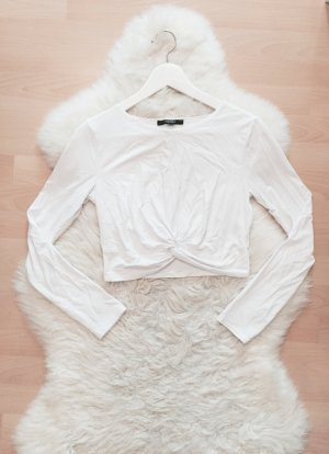 Forever 21 Crop Top Geknotet Blogger Shirt Knotendetail Gr.XS/S