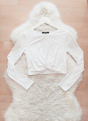 Forever 21 Crop Top Geknotet Blogger Shirt Knotendetail Gr.XS/S