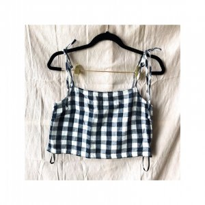 Forever 21 Crop Top mit Vichy Muster Gr. S