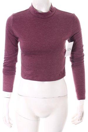 Forever 21 T-shirt court violet moucheté style classique