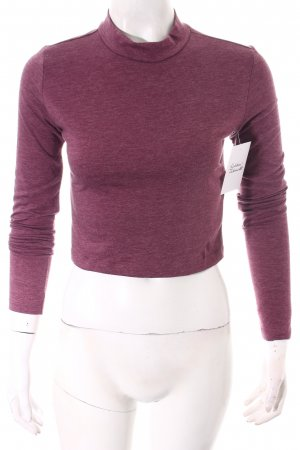 Forever 21 Cropped shirt lila gestippeld klassieke stijl