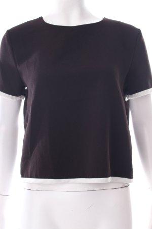 Forever 21 Cropped Shirt schwarz-weiß schlichter Stil