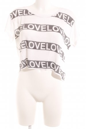 Forever 21 Cropped Shirt white-grey casual look