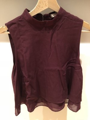 Forever 21 Cropped Top bordeaux