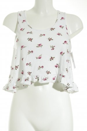 Forever 21 Cropped Top Blumenmuster Casual-Look