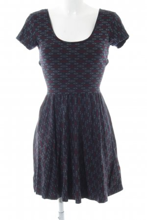 Forever 21 Cut-Out-Kleid abstraktes Muster Casual-Look