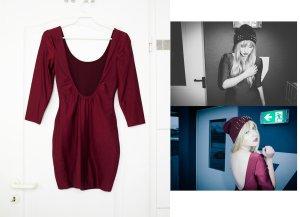 Forever 21 dunkelrotes Spandex Kleid mit super tiefem Rückenausschnitt M 36 38