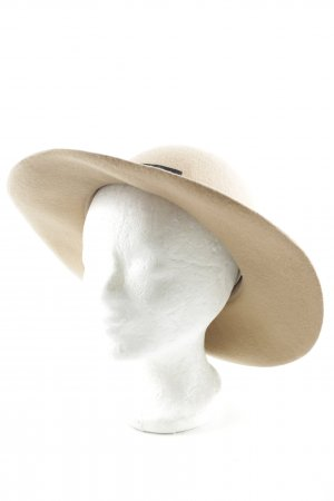 Forever 21 Felt Hat beige-black casual look