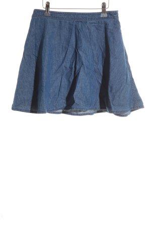 Forever 21 Glockenrock stahlblau Jeans-Optik