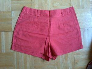 Forever 21 High Waist Shorts Leinen rot Gr. L