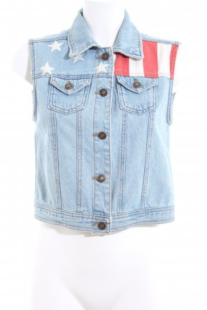 Forever 21 Jeansweste Streifenmuster Casual-Look