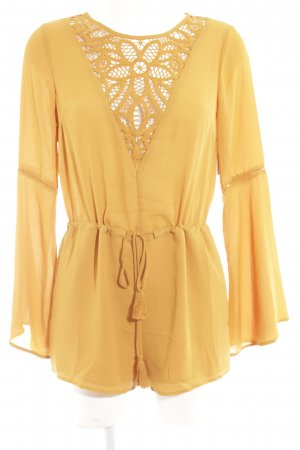 Forever 21 Jumpsuit dunkelgelb Casual-Look