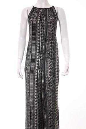 Forever 21 Jumpsuit schwarz-hellbeige abstraktes Muster Boho-Look