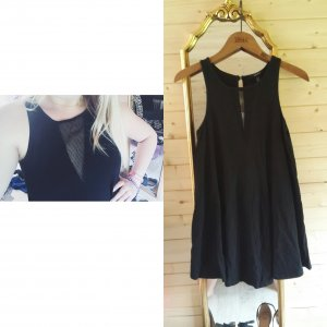 Forever 21 Kleid schwarz mit Netz Dekollté Ausschnitt