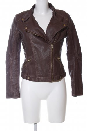 Forever 21 Faux Leather Jacket brown casual look