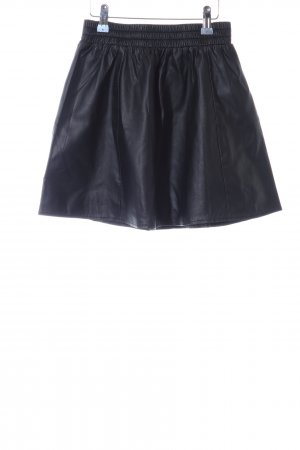 Forever 21 Faux Leather Skirt black party style