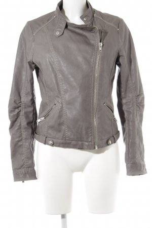 Forever 21 Leather Jacket grey biker look