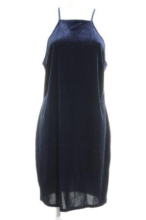 Forever 21 Minikleid dunkelblau Samt-Optik