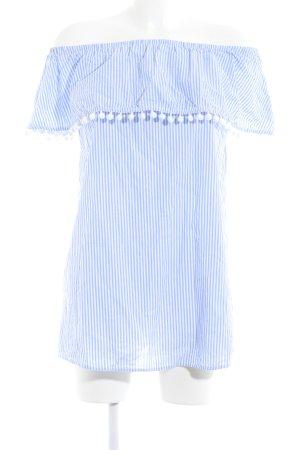 Forever 21 Minikleid weiß-himmelblau Streifenmuster Casual-Look